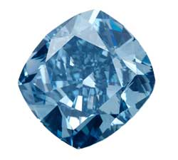 Blue diamond ring men