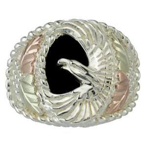 Yellow Onyx American Eagle Ring