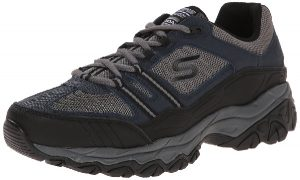 Skechers Sport Afterburn Strike Memory Foam Lace-Up Sneaker walking shoes for men