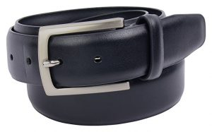 Velette Mens Black Leather Belt