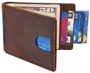 Simpac RFID Blocking Bifold Slim Genuine Leather Wallet