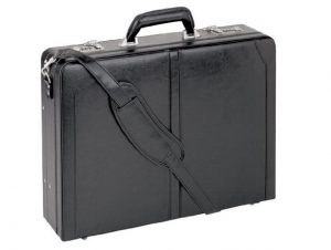 "Premium Leather 16"" Laptop Attaché Briefcase"