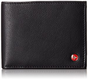 Alpine Swiss Men's Leather Flip out ID Wallet