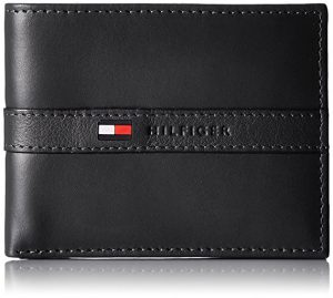 Tommy Hilfiger Men's Ranger Leather Pass case Wallet