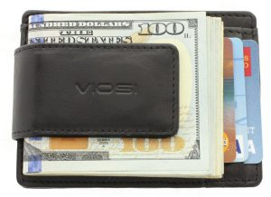 Voisi Genuine Kingston Leather Magnetic Front Pocket Money Clip