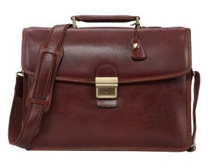 Banuce Men's Full Grains Leather Briefcase