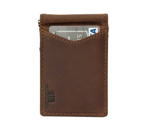 Blocking Bifold Slim Genuine Leather Thin Minimalist Front Pocket Wallet