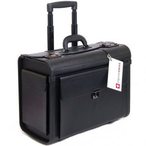 Rolling travel briefcase